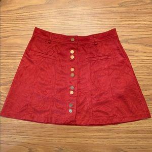Zara | Faux Suede Skirt, S